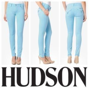 Hudson Collin Midrise Flap Pocket Skinny Jeans @